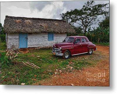 Metal Print featuring the photograph Cuba Cars 3 by Juergen Klust