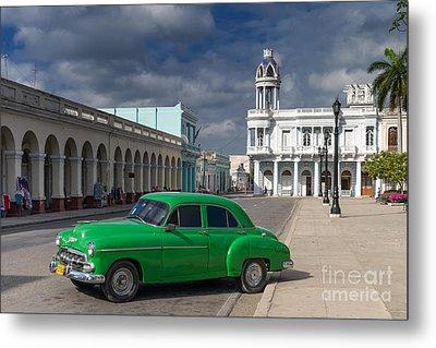 Metal Print featuring the photograph Cuba Green  by Juergen Klust