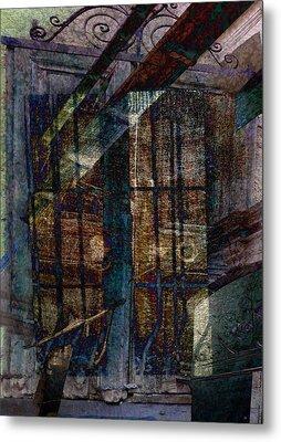 Cubist Shutters Doors And Windows Metal Print by Sarah Vernon