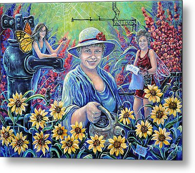 Cultivating The Arts Metal Print by Gail Butler