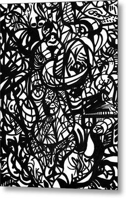 Culture Clutter Metal Print by Urban Hippie Brownie Cat