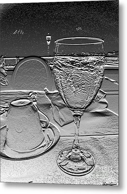 Cup And Glass Metal Print by Lyric Lucas