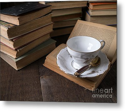 Cup Of Tea With Old Friends Metal Print by Edward Fielding