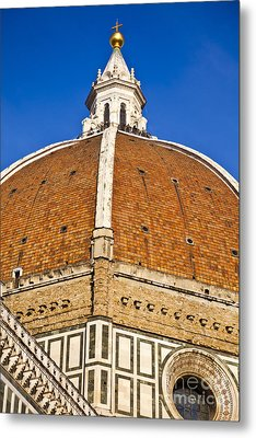 Cupola On Florence Duomo Metal Print by Liz Leyden