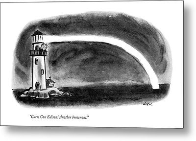 Curse Con Edison! Another Brownout! Metal Print by Lee Lorenz