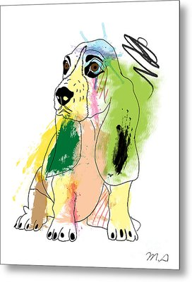 Cute Dog 2 Metal Print by Mark Ashkenazi