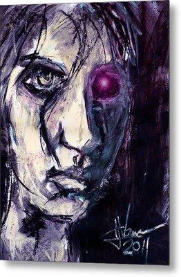 Metal Print featuring the painting Cyborg by Jim Vance