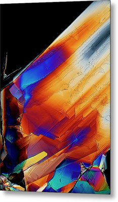 Cysteine Crystals Metal Print by Antonio Romero
