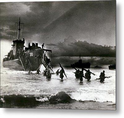 D-day Invasion Metal Print