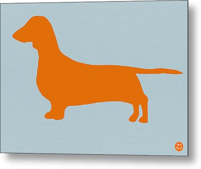 Dachshund Orange Metal Print