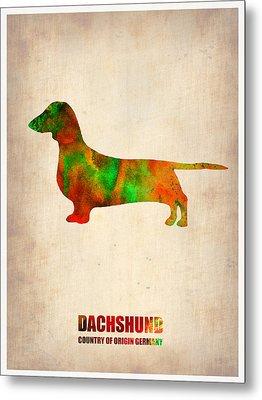 Dachshund Poster 2 Metal Print by Naxart Studio