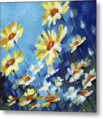 Metal Print featuring the painting Daisy Field by Natasha Denger