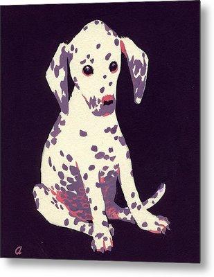 Dalmatian Puppy Metal Print by George Adamson