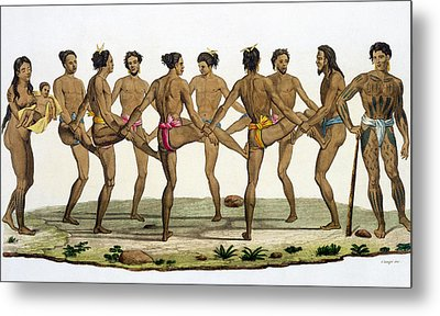 Dance Of The Caroline Islanders, Plate Metal Print
