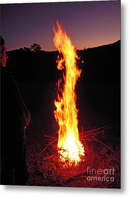 Metal Print featuring the photograph Woman In The Fire by Ankya Klay