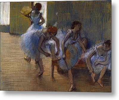 Dancers On A Bench, 1898 Metal Print