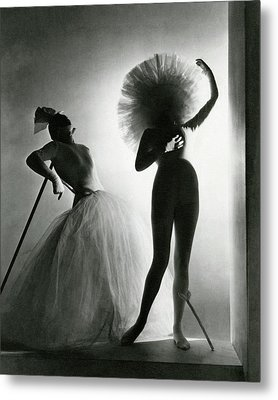 Dancers Posing In Costumes From Salvador Dali's Metal Print