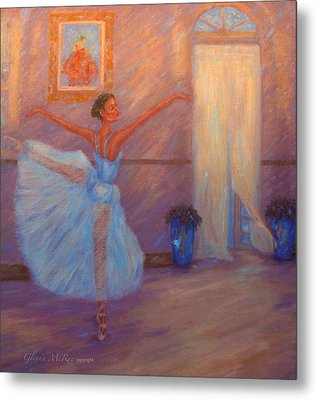 Dancing To The Light Metal Print by Glenna McRae