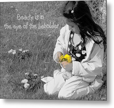 Dandelion Bouquet Metal Print by Heidi Manly