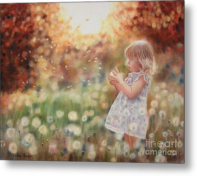 Dandelions Metal Print by Colleen Quinn
