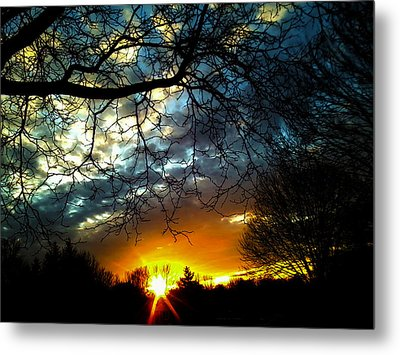 Dark Beauty Sunset Metal Print by James Hammen