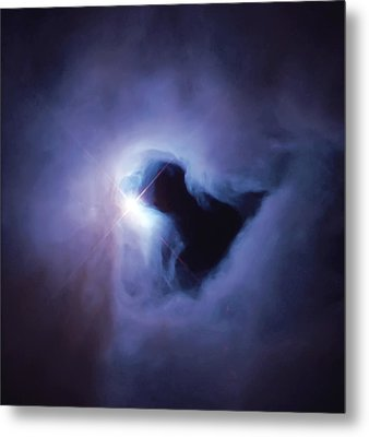Dark Nebula Cloud  Metal Print by Jennifer Rondinelli Reilly - Fine Art Photography