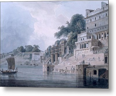 Dasasvamedha Ghat, Benares, Uttar Metal Print by Thomas & William Daniell
