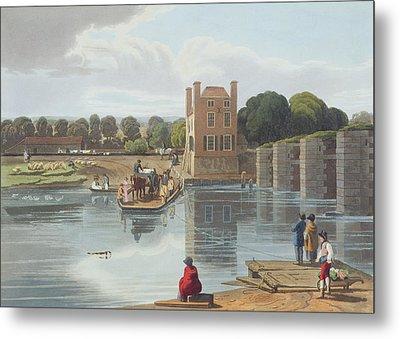 Datchet Ferry, Near Windsor, Engraved Metal Print