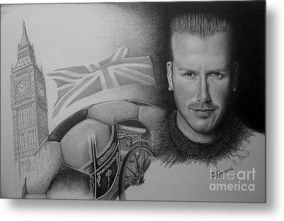David Beckham Metal Print by Geni Gorani