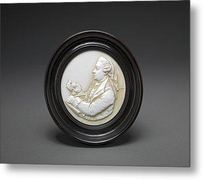 David Garrick Miniature Tassie Glass Paste Portrait Metal Print by Litz Collection
