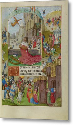 David In Prayer Master Of The Lübeck Bible Bruges Metal Print