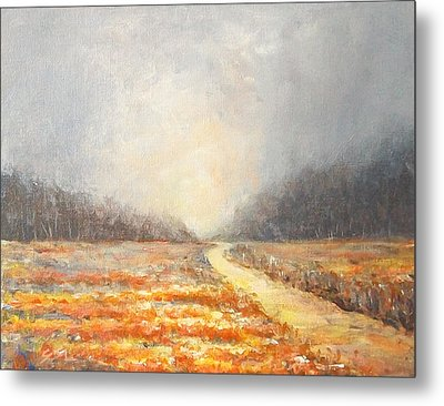 Metal Print featuring the painting Dawn 1 by Jane  See