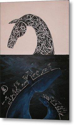 Day And Night Metal Print by Ali ArtDesign