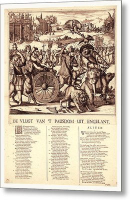 De Vlugt Van T Pausdom Uit Engelant, Hooghe Metal Print by English School