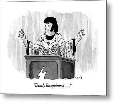 Dearly Besequinned Metal Print