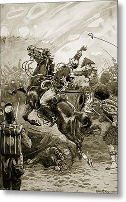 Death Of Sir Edward Pakenham Metal Print