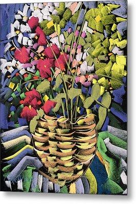 Deco Flowers Metal Print