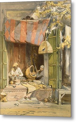Delhi - Jeweller, From India Ancient Metal Print by William 'Crimea' Simpson