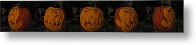 Metal Print featuring the sculpture Demented Mister Ullman Pumpkin 3 by Shawn Dall