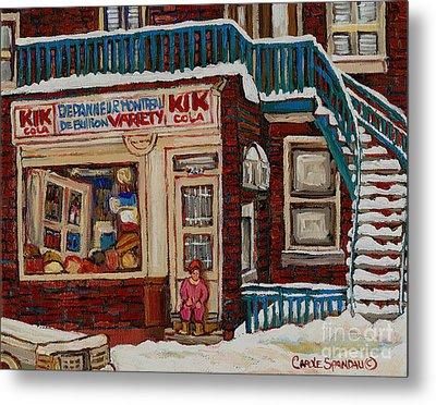 Depanneur Kik Cola Montreal Metal Print by Carole Spandau