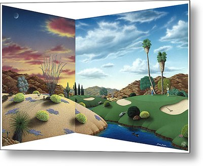 Desert Golf Metal Print by Snake Jagger