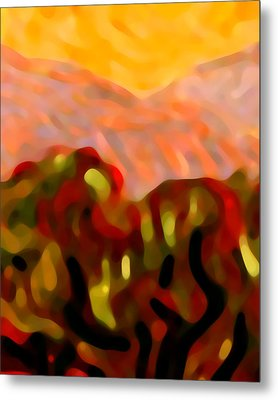 Desert Olive Trees Metal Print by Amy Vangsgard