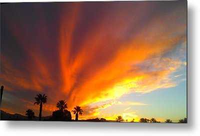 Desert Storm Metal Print by Chris Tarpening