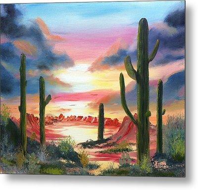 Desert Sunrise Metal Print by Roy Gould