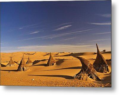 Desert Village Metal Print