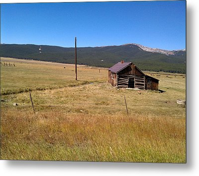 Metal Print featuring the photograph Deserted Cabin by Fortunate Findings Shirley Dickerson