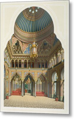 Design For The Entrance Hall Metal Print by Karl Ludwig Wilhelm Zanth