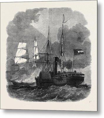 Destruction Of The Federal Merchantman Harvey Birch Metal Print by English School