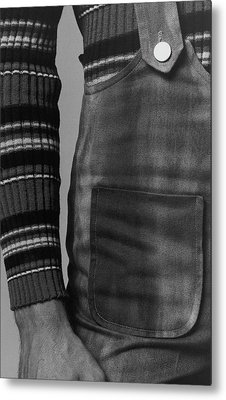 Detail Of A Sweater And Overalls Metal Print