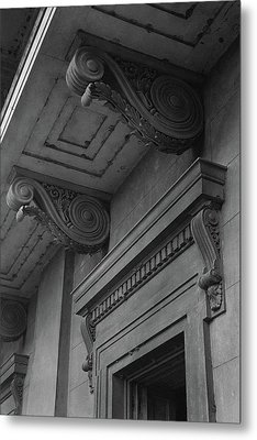 Detail Of Exterior Molding At A Plantation Home Metal Print by F.S. Lincoln